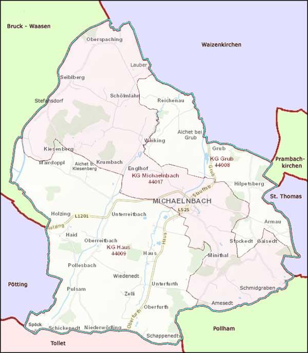 Ortschaften in Michaelnbach
